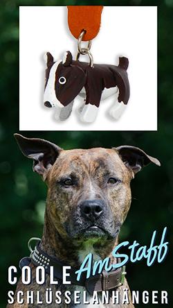 American Staffordshire Terrier amstaff anhaenger schluesselanhaenger leder artikel sachen fanartikel monkimau