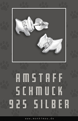 American Staffordshire Terrier amstaff schmuck ohrringe silber artikel sachen geschenk monkimau