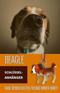 beagle hund schluesselanhaenger leder artikel sachen geschenk monkimau