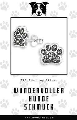 border collie hund ohrringe schmuck silber artikel sachen geschenk monkimau