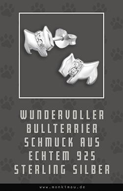 bullterrier bulli hund ohrringe silber schmuck sachen artikel geschenk monkimau