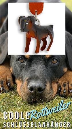 rottweiler hund anhaenger schluesselanhaenger leder artikel sachen fanartikel monkimau